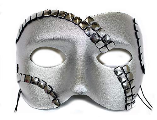Luminary III Silver Men's Masquerade Mask ()