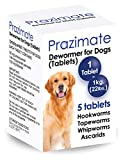CatNDog Prazimate Quad Dewormer for Dogs, Medicine Pills Wormer for Large and Puppy 5 Tablets (5 Tablets)