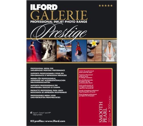 ILFORD GALERIE Prestige Smooth Pearl - 13 x 19 Inches, 25 Sheets (2001750) (Pearl Smooth Inkjet Paper)