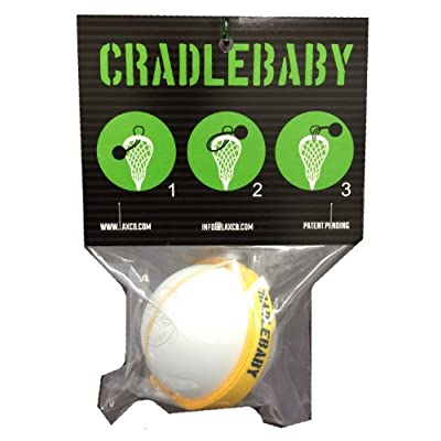 CradleBaby Rubber Lacrosse Ball for Training Indoor, Outdoor, Shooting, Catching (Yellow/Navy Blue): Sports & Outdoors