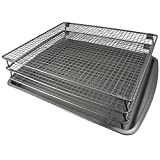 Weston Nonstick 3-Tier Drying Rack and Baking