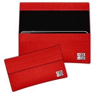 SIMON PIKE Cáscara Funda de móvil NewYork 1 rojo Alcatel IDOL 2 MINI S Fieltro de lana