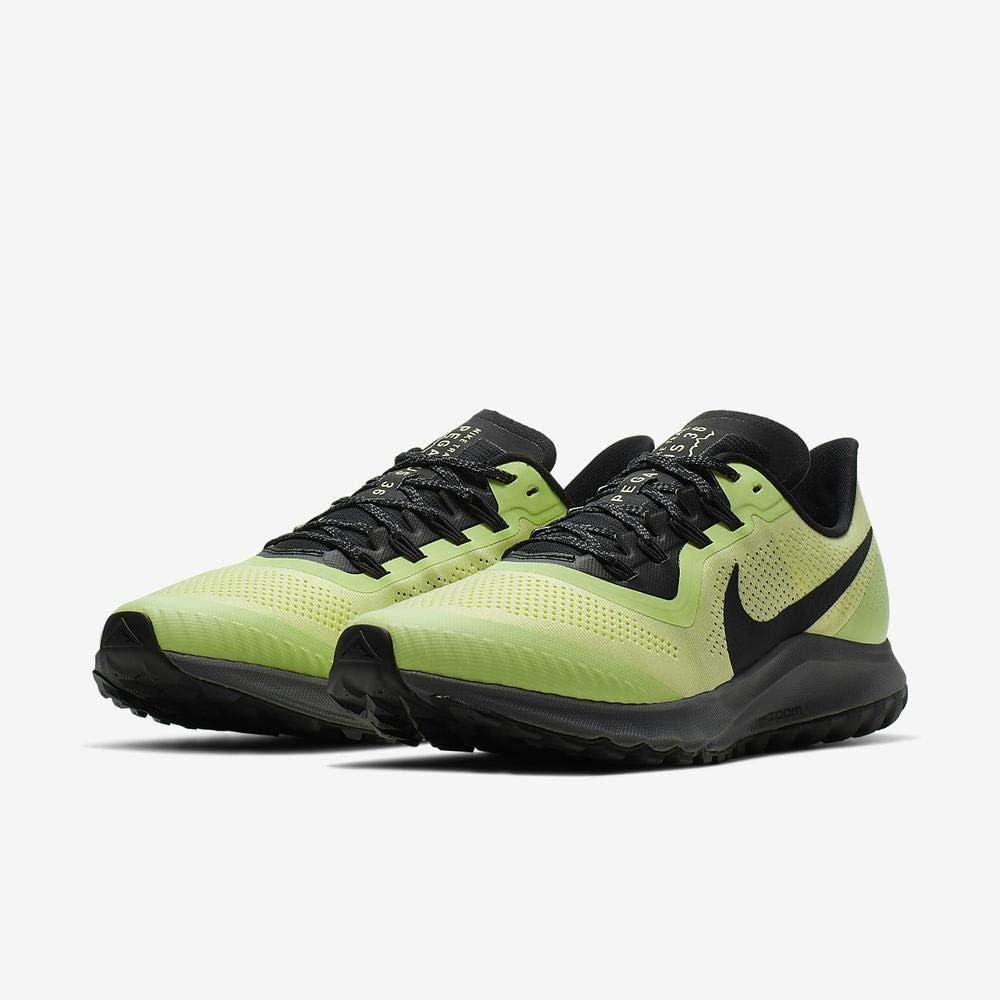 Nike Air Zoom Pegasus 36 Trail, Chaussure de Course Homme Multicolore Luminous Green Burgundy Ash Black 300