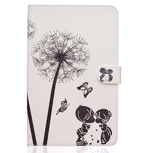 T560 Case, Crosstree PU Leather Stand Feather with 3 Built-in Card Slots,Money Pocket Flip Cover Magnetic Closure Cover For Samsung Galaxy Tab E 9.6 Inch SM-T560 Tablet (Baby Kiss)