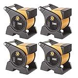 Lasko Pro Performance 3 Speed High Velocity Durable Utility Blower Fan (4 Pack)