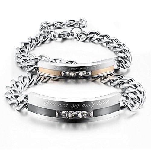MOWOM Silver Stainless Bracelet Promise product image