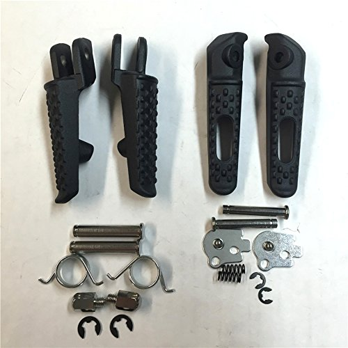 XKH Group Motorcycle Black Front Rear Foot Peg Footrest Kit Fit For Honda CBR 1000RR 2004-2012 Honda CBR 600RR 2003 2006 Honda CB 1000R 2008 2012