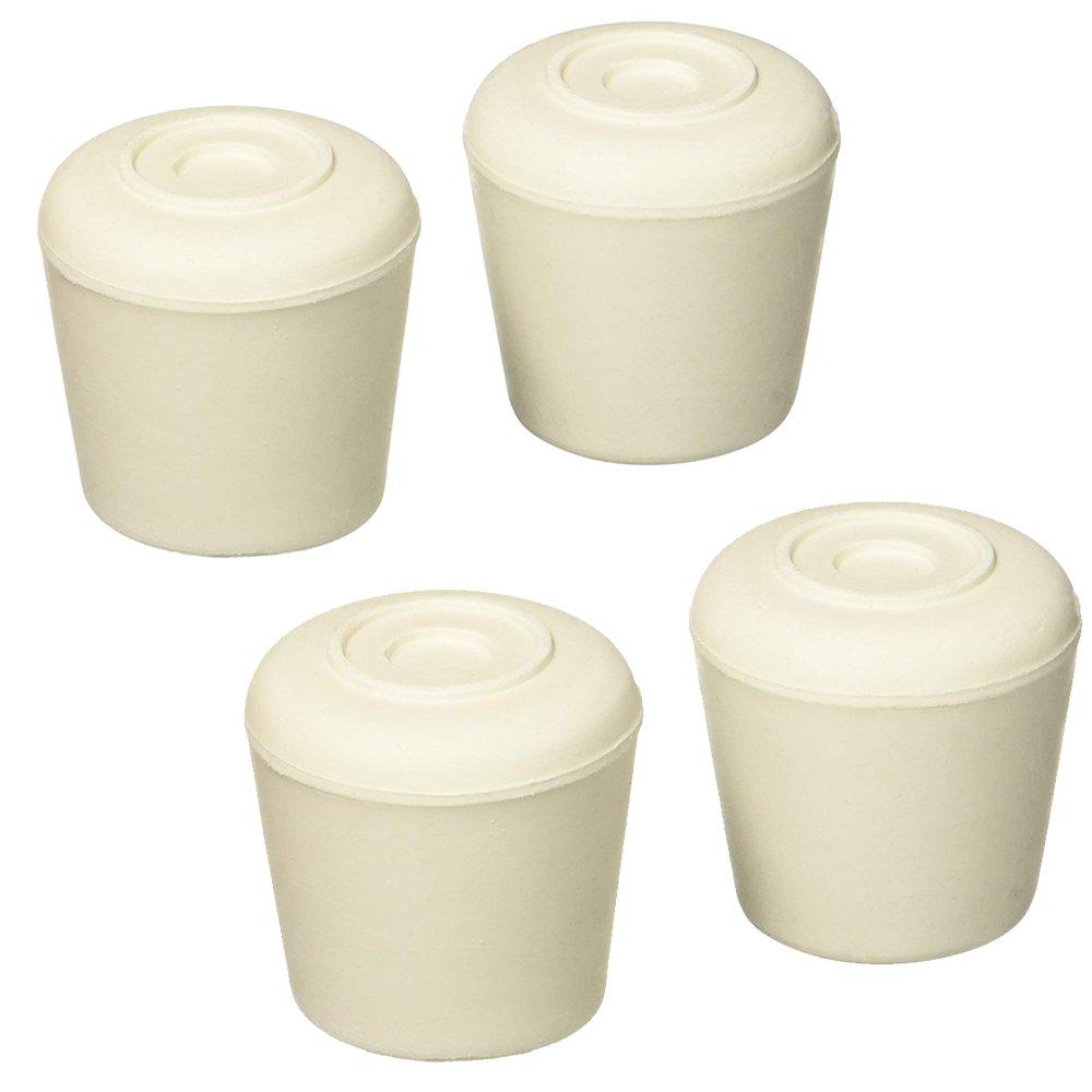 Mintcraft Fe-50645 Rubber Leg Tip, 1'', White, 4 Count