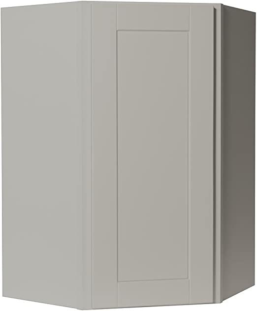 Amazon Com Hampton Bay Shaker Assembled 24x36x12 In Diagonal Corner Wall Kitchen Cabinet In Dove Gray Kitchen Dining