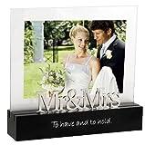 #1: Malden International Designs Celebrated Moments Mr. and Mrs.Black Wood Picture Frame, 5x7, Black