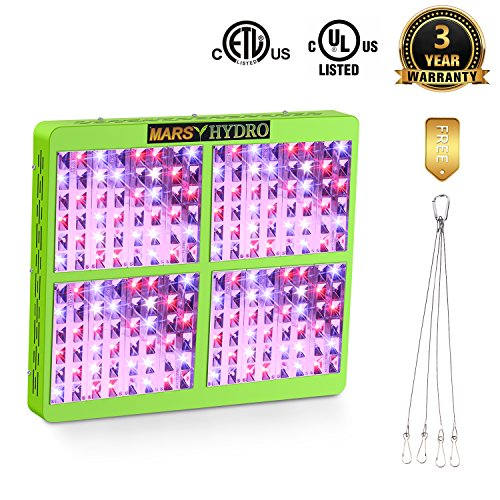 Marshydro Reflector 960W LED Grow Light Full Spectrum for Hydroponic Indoor Garden and Greenhouse Veg and Bloom Switches Added - 24' Whole House Fan