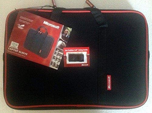 Samsill Microsoft 15.6-inch/16-inch Neoprene Laptop Sleeve Black/red (Samsill Laptop Sleeve)