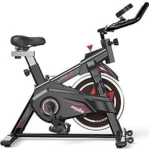 YUESFZ Cyclette Cyclette Compatta A Motore Ellittiche Spin Bike Bicicletta da Spinning Indoor da Interno Bicicletta da Palestra Stepper Dimagrante (Color : Black, Size : 83 * 57 * 126cm)