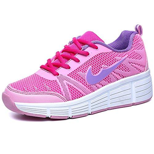 Zapatillas con ruedas automáticas para niños - Mod. 509 - Rosa - Talla 36: Amazon.es: Zapatos y complementos