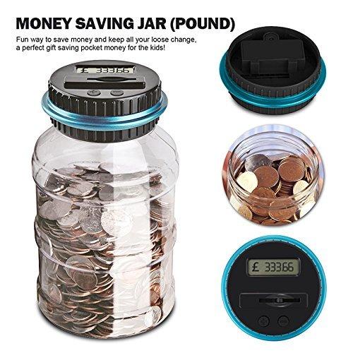 BESTZY Bo/îte /à /économie dargent Cadeaux pour Enfants Digital Coin Bank /Épargne Jar//Num/érique Tirelire UK Compteur Piggy Bank Grande capacit/é Money Saving Box avec /écran LCD