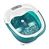 homedics foot soak - HoMedics Deep Soak Duo Footbath With Poweroll 2-in-1 Massager, Waterfall jets, Built-in carry handle, LED lights, deep tub, FB-650