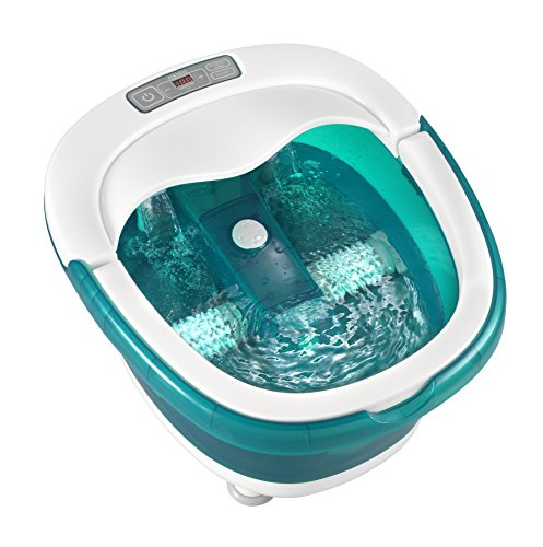 HoMedics Deep Soak Duo Footbath With Poweroll 2-in-1 Massager, Waterfall jets, Built-in carry handle, LED lights, deep tub, FB-650
