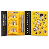 Wrench Screwdriver Set, JVMAC Ratchet Tool Set Metric Socket Sets with Micro ScrewDriver Bits for iPad, iPhone, PC, Watch, Samsung and Other Smartphone Tablet Computer Electronic Devices (41 IN 1)