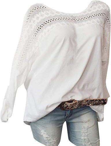 Blusa Primavera Sueters Mujer Manga Larga Blusas para Mujer Elegantes Fiesta POLP Blusa Encaje Mujer Fiesta Camiseta Mujer Manga Corta Camisetas Mujer Verano 2019: Amazon.es: Ropa y accesorios