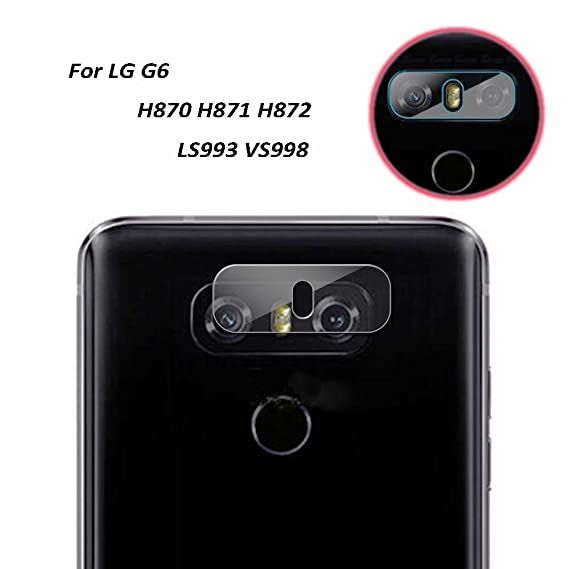 pretty nice 5297b 5edc9 Genko-2 Pieces High Definition Ultra Thin Transparent Clear Camera  Protector Lens Tempered Glass For LG G6 Glass Lens Cover