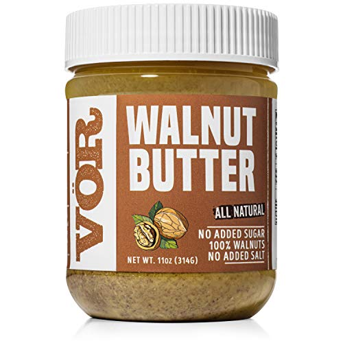 Vör All Natural Walnut Butter (11oz) | Only One Ingredient | No Sugar, No Salt | Vegan, Paleo, Keto, Whole 30