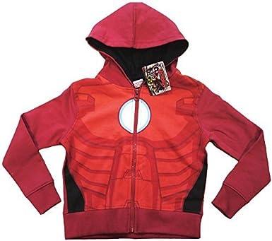 Oficial Iron Man de Los Vengadores niños superhéroes cremallera sudadera con capucha para niños tamaños: Amazon.es: Ropa y accesorios
