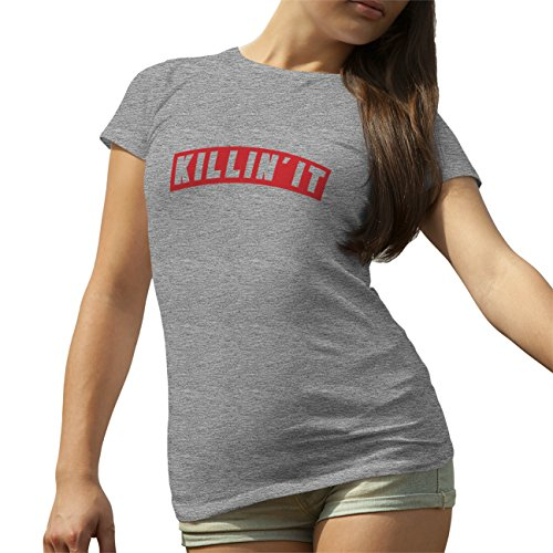 Killin It Red T-Shirt camiseta para la Mujer Gris