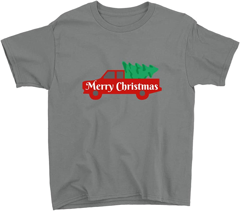 Venley Merry Christmas Truck Youth T-Shirt