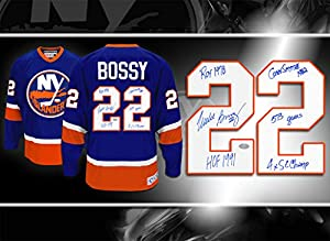 Mike Bossy New York Islanders STATS CCM Autographed Jersey