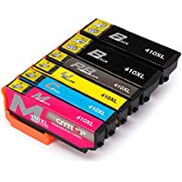 CMTOP 1Set+1Black Remanufactured 410 410XL Ink Cartridges High Yield, (2 Black 1 Cyan 1 Magenta 1 Yellow) for Expression Premium XP-830 XP-640 XP-630 XP-530 XP-635 Printer