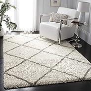 SAFAVIEH Hudson Shag Collection SGH281A Modern Diamond Trellis Non-Shedding Living Room Bedroom Dining Room En