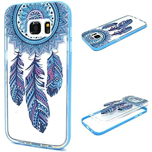 Galaxy S7 Edge Case, S7 Edge Case, ArtMine Blink Dream Catcher Hybrid Slim Two Piece Transparent Clear Silicone Sales