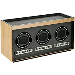 WOLF 453728 Meridian Triple Watch Winder, Blonde