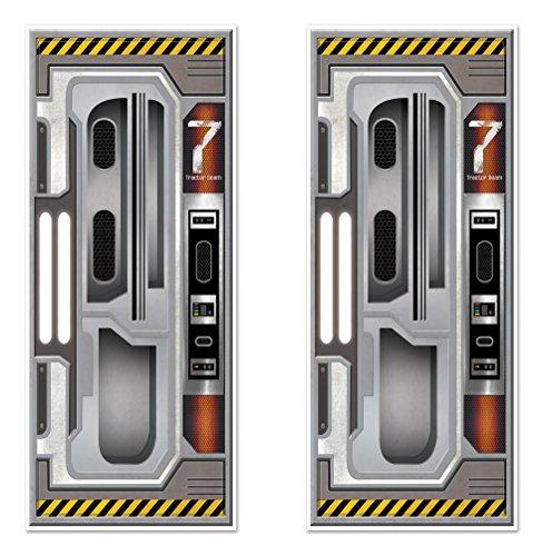 Beistle 59896 2Piece Spaceship Door Covers, 30