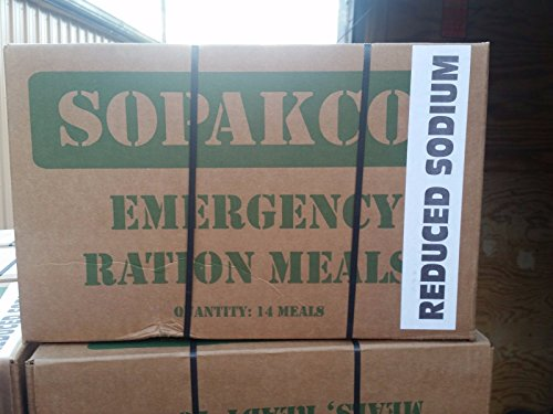 Sopakco MRE Meals Ready To Eat Case Pack of 14 For Survival And Emergency Green Box (Chili Macaroni Mre compare prices)