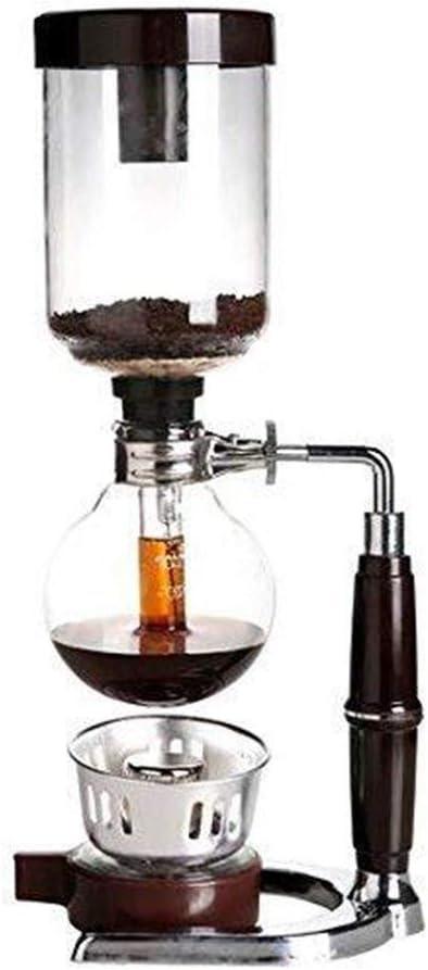 Sucastle Inicio del café del Estilo de Mesa Sifón Sifón (sifón) Cafetera Cristal Tipo de Máquina de café de Filtro 3 Copa-5 Copa: Amazon.es: Hogar