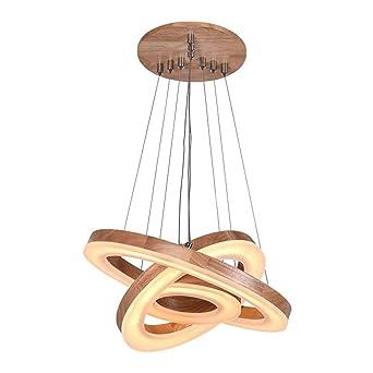 Wunderbar Led Ring Holz Kronleuchter, Kreative Restaurant Wohnzimmer Esstisch  Kronleuchter Hochzeit Dekoration Acryl Lampen Und