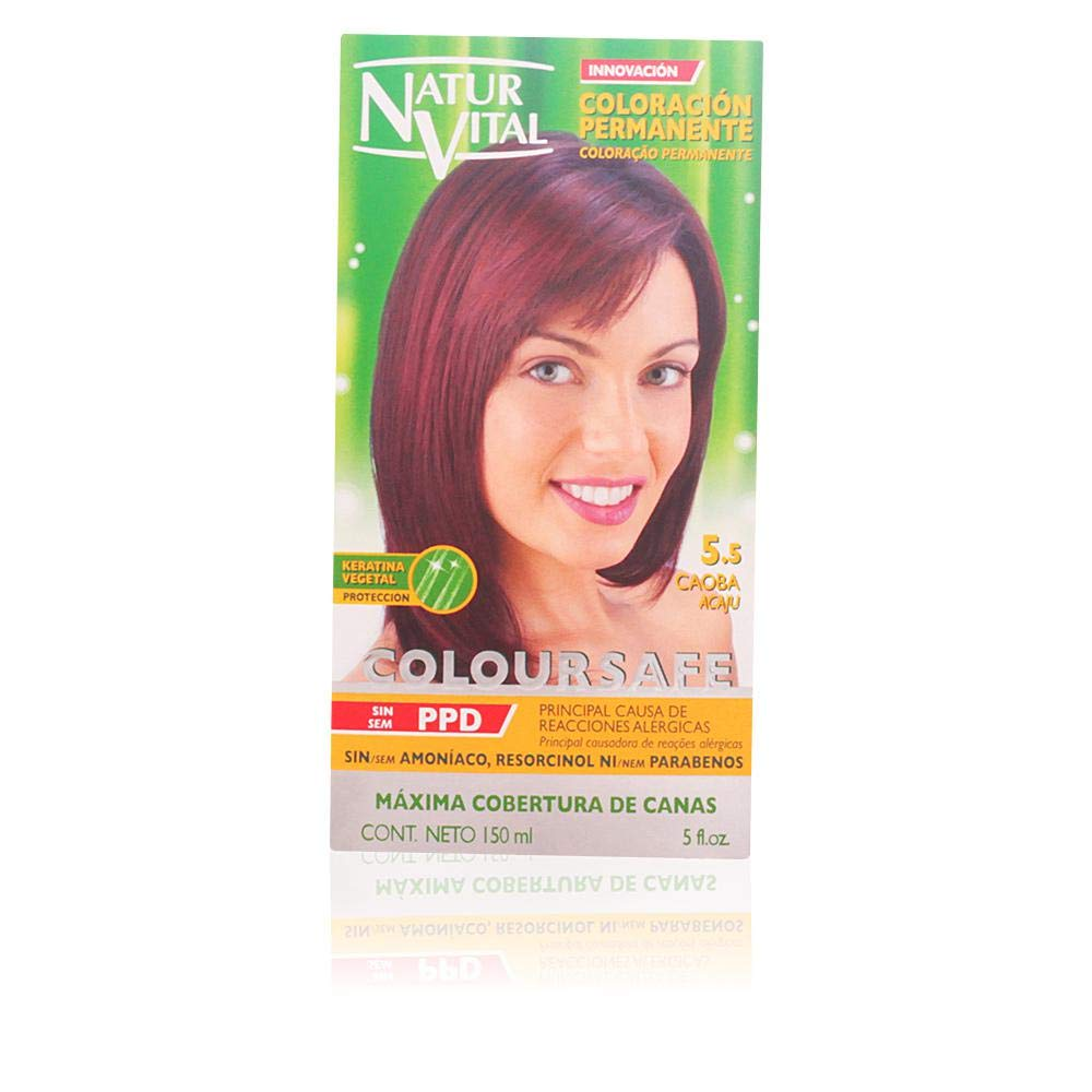 Permanent Hair Dye, Permanent Hair Color. Coloursafe, No Ammonia,Resorcinol or Parabens (~5.5 Mahogany Red Hair)