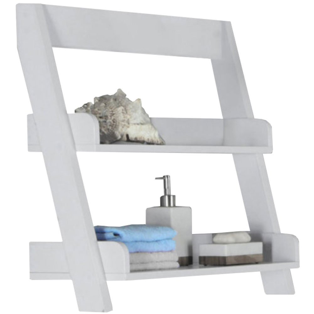 SKB family Wooden Bathroom Shelves, 25'' x 24'' x 9'' x 10 lbs, White