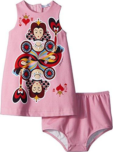 Dolce Pink Dress Gabbana - Dolce & Gabbana Kids Baby Girl's Queen Hearts Dress (Infant) Rose 6-9 Months