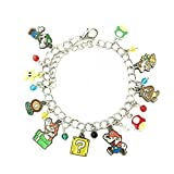 US FAMILY Mario Brothers Bowser Gumba Game Theme Multi Charms Jewelry Bracelets Charm by Family Brands