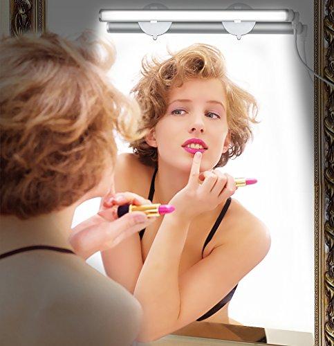 Emotionlite Vanity Light LED Make up Light Bathroom Vanity Mirror Light Portable Cosmetic Mirror Light Kit with 3-Level Brightness Dimmable, USB Makeup Light, Portable & Durable, White, 6000K