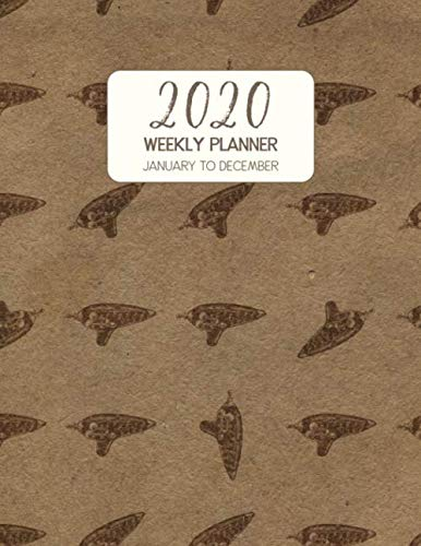 2020 Weekly Planner January to December: Dated Diary With To Do Notes & Inspirational Quotes - Ocarina (Vintage Music Calendar Planners)