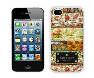 Personalized Design With Kate Spade 128 White iPhone 4 4S Protective Cover Case