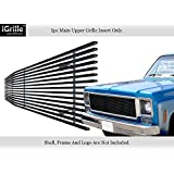 APS Compatible with 1973-1980 Chevy C K Pickup Suburban Blazer Black Stainless Steel Billet Grille Grill C85008J
