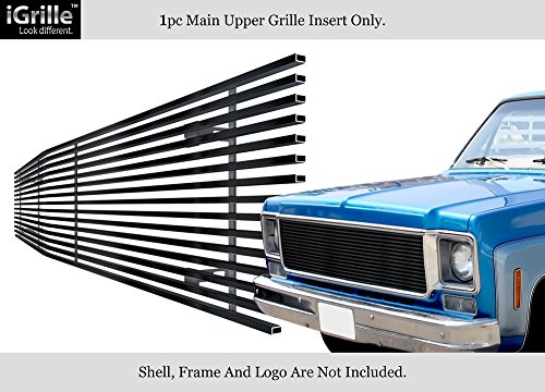 - APS Fits 1973-1980 Chevy C/K Pickup/Suburban/Blazer Black Stainless Steel Billet Grille Grill #C85008J