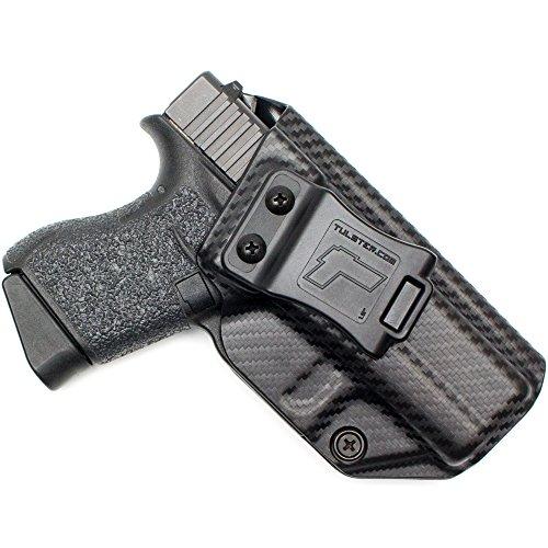 Tulster Glock 43 Holster IWB Profile Holster (Black Carbon Fiber - Right Hand)