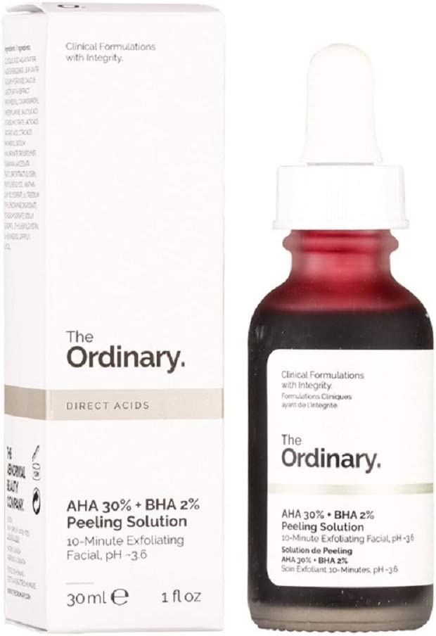 The Ordinary AHA 30% + BHA 2% Peeling Solution 30ml, 10-Minute Exfoliating Facial: Amazon.co.uk: Beauty