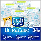 Fresh Step UltraCare with Febreze Freshness, Clumping Cat Litter, Scented, 34 Pounds