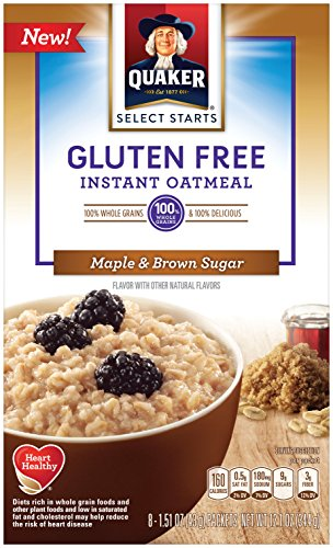 (Quaker Instant Oatmeal, Gluten Free, Maple & Brown Sugar, Breakfast Cereal, 6Count )